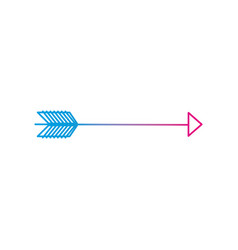 line arrow element with pointer style design vector image vector image