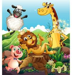 Playful animals vector