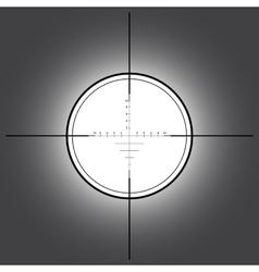 Sniper scope over black background vector image