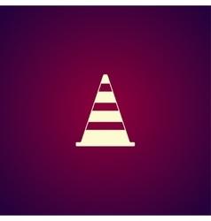 Traffic cone flat icon vector image