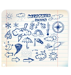 weather hand drawing vector image vector image