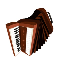 A retro accordion isolated on white background vector