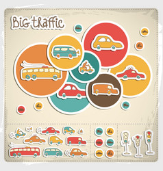 big traffic set vector image