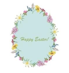 Easter floral egg for your design vector image vector image