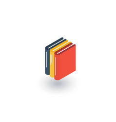 education book library literature isometric flat vector image