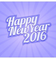 Happy New Year 2016 with calligraphic vector image vector image