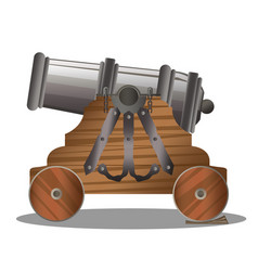 old ship cannon vector image