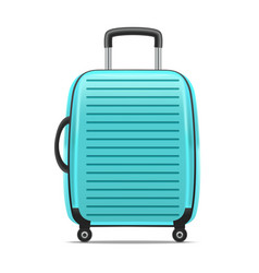 realistic detailed blue case or suitcase vector image vector image
