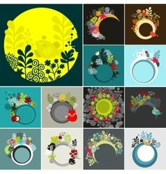 Round banners set vector image vector image