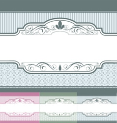 Vintage label banner set vector image vector image