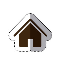 brown house icon image vector image vector image