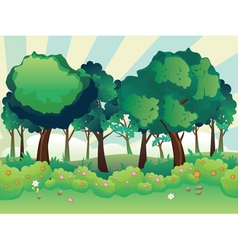Green summer forest vector