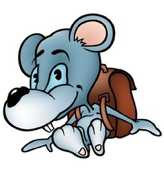 Mouse in School vector image vector image