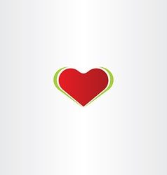 smooth red heart logo icon vector image vector image