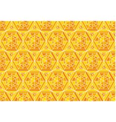 yellow mosaic geometry seamless pattern vector image vector image