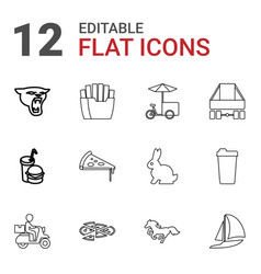 12 fast icons vector