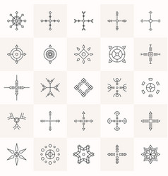 abstract geometry symbols set vector image