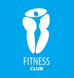 Abstract logo figure of the girl for a fitness vector image