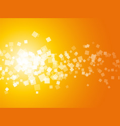 abstract orange square background vector image