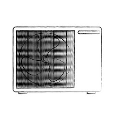 Air conditioner isolated icon vector