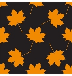 Autumn seamless background vector image