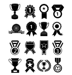 awards icons set vector image