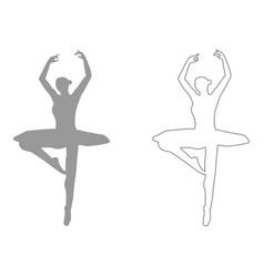 ballet dancer set icon vector image