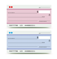 Bank check vector