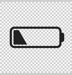 battery level indicator on isolated background vector image