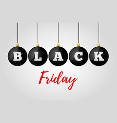 black friday sale ad poster banner vector image