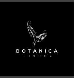 botanics logo bio cosmetics emblem vector image