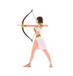 brave female warrior from egyptian mythology or vector image