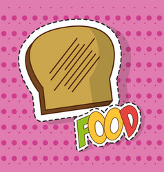 bread food design vector image