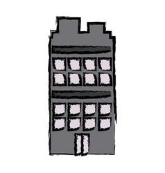 Building residential or business facade vector