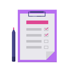 Checklist flat icon vector