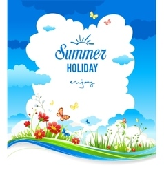 Cheerful summer background vector