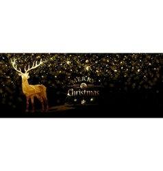 Christmas with Gold deer vector image
