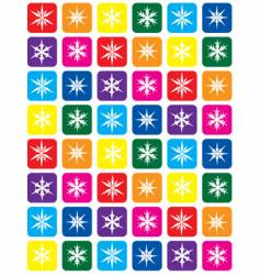 Color snowflake pattern background vector