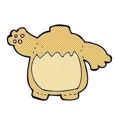 comic cartoon teddy bear body mix and match comic vector image
