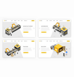 company industrial process landing page template vector image
