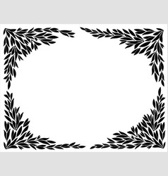 corners for frames of leaf silhouettes vector image