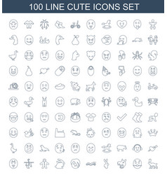 cute icons vector image