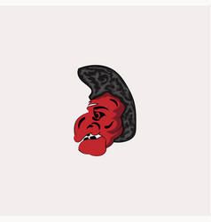 devil mask old logo vector image