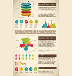 diagrams infographics set vector image
