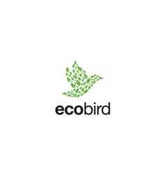 eco bird logo design concept vector image