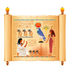 Egyptian papyrus with from tomb of vector