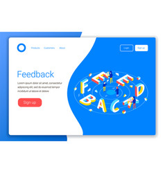 feedback design concept vector image