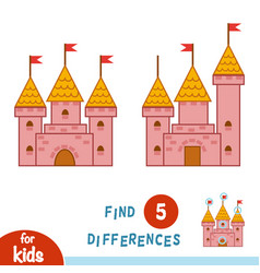 Find differences castle vector