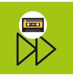forward music cassette tape vector image