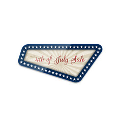fourth of july sale national banner vector image